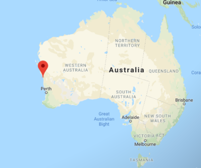 Western Australia, Dongara and Port Denison-Google Maps